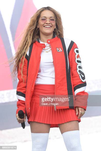Rita Ora attends Day 2 of BBC Radio 1's Big Weekend 2017 at Burton Constable Hall on May 28 2017 in Hull United Kingdom