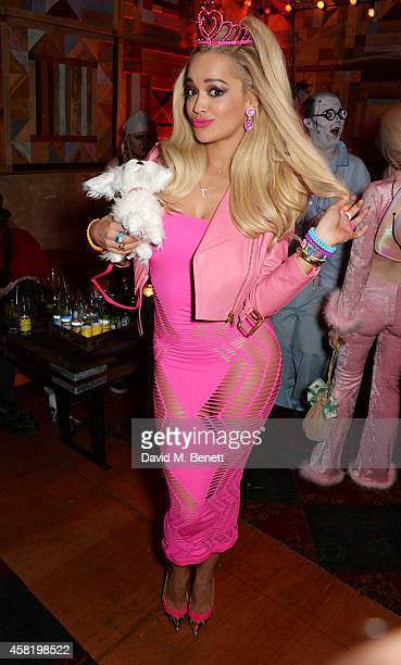 Rita Ora attends 'Death Of A Geisha' hosted by Fran Cutler and Cafe KaiZen with Grey Goose on October 31 2014 in London England