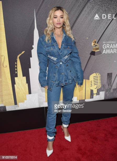 Rita Ora attends Delta Air Lines the Official Airline Partner of the GRAMMY Awards® and Supporter of FirstTime Nominees hosts a private performance...