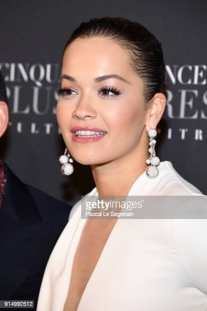 Rita Ora attends 'Fifty Shades Freed 50 Nuances Plus Claires' Premiere at Salle Pleyel on February 6 2018 in Paris France