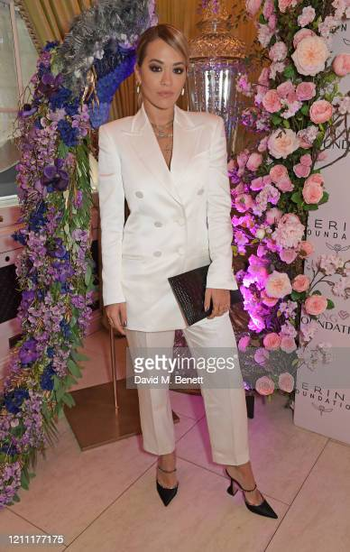 Rita Ora attends International Women's Day for The Caring Foundation with Salma Hayek at Annabel's on March 08 2020 in London England