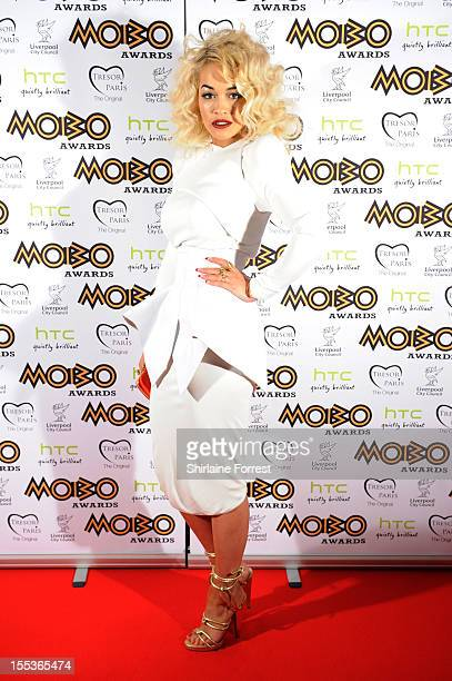 Rita Ora attends the 2012 MOBO awards at Echo Arena on November 3 2012 in Liverpool England
