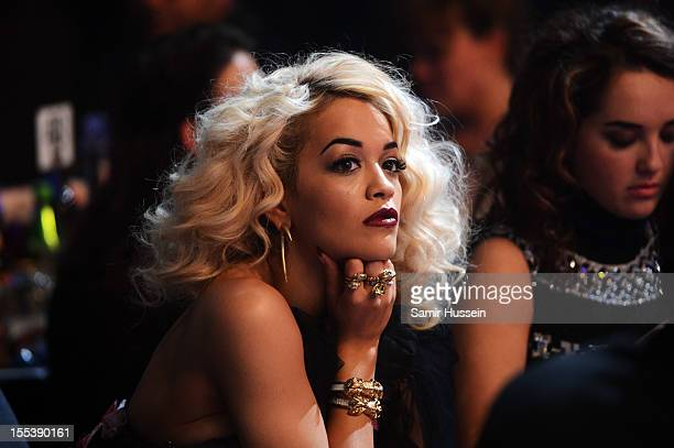 Rita Ora attends the 2012 MOBO awards at Echo Arena on November 3, 2012 in Liverpool, England.