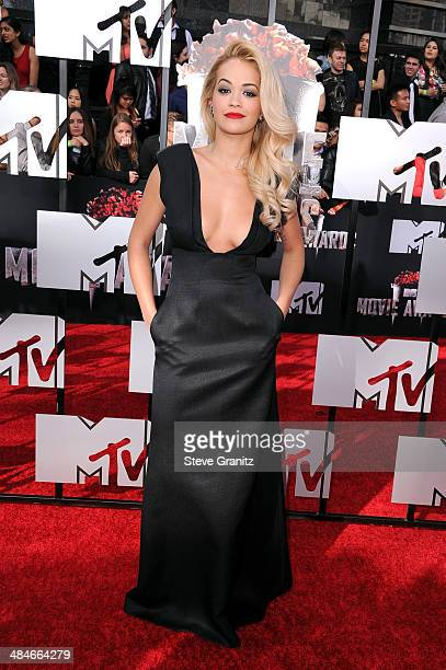 Rita Ora attends the 2014 MTV Movie Awards at Nokia Theatre LA Live on April 13 2014 in Los Angeles California