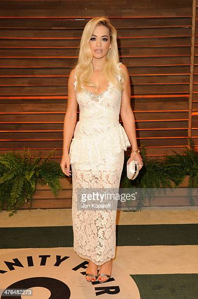 Rita Ora attends the 2014 Vanity Fair Oscar Party hosted by Graydon Carter on March 2 2014 in West Hollywood California