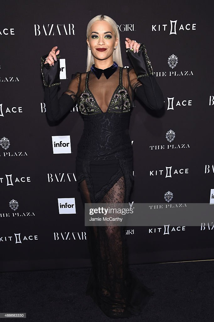 Rita Ora attends the 2015 Harper's BAZAAR ICONS Event at The Plaza Hotel on September 16, 2015 in New York City.