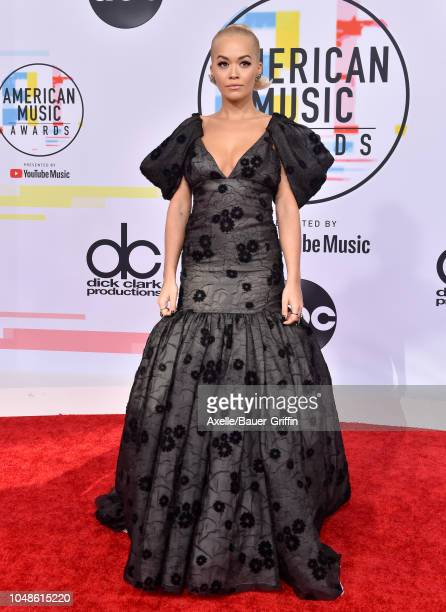 Rita Ora attends the 2018 American Music Awards at Microsoft Theater on October 9 2018 in Los Angeles California