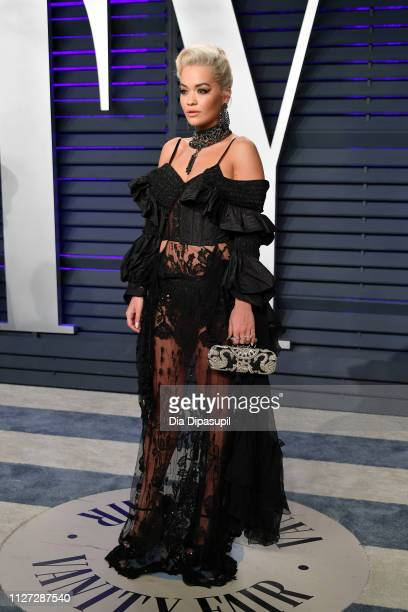 Rita Ora attends the 2019 Vanity Fair Oscar Party hosted by Radhika Jones at Wallis Annenberg Center for the Performing Arts on February 24, 2019 in...
