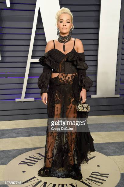 Rita Ora attends the 2019 Vanity Fair Oscar Party hosted by Radhika Jones at Wallis Annenberg Center for the Performing Arts on February 24 2019 in...