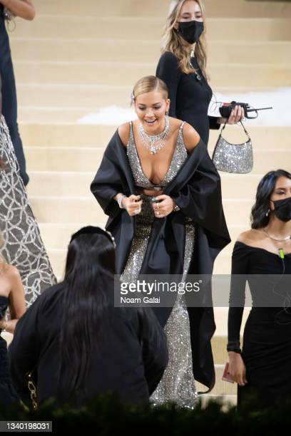 Rita Ora attends the 2021 Met Gala celebrating 'In America: A Lexicon of Fashion' at The Metropolitan Museum of Art on September 13, 2021 in New York...