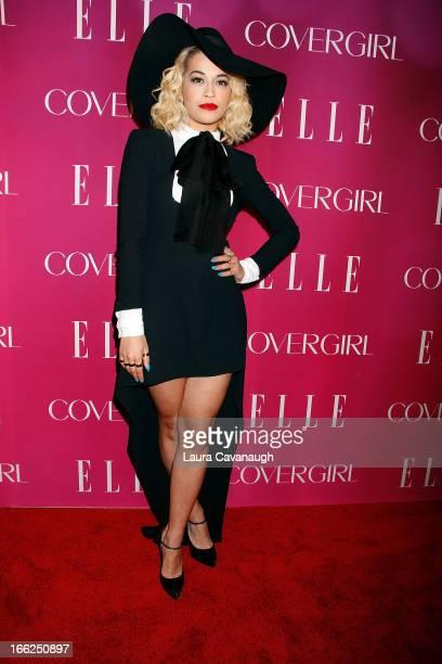 Rita Ora attends the 4th annual ELLE Women in Music Celebration at The Edison Ballroom on April 10, 2013 in New York City.