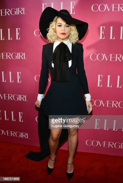 Rita Ora attends the 4th annual ELLE Women in Music Celebration at The Edison Ballroom on April 10 2013 in New York City