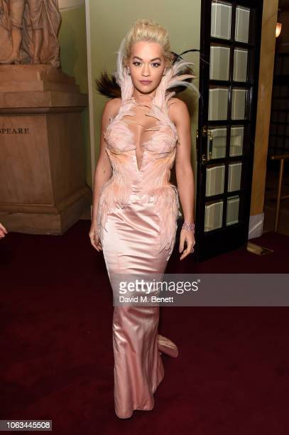 Rita Ora attends The 64th Evening Standard Theatre Awards at the Theatre Royal Drury Lane on November 18 2018 in London England