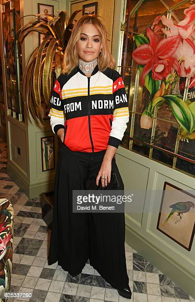 Rita Ora attends the adidas Originals by Rita Ora dinner at The Ivy Chelsea Garden on November 23 2016 in London England