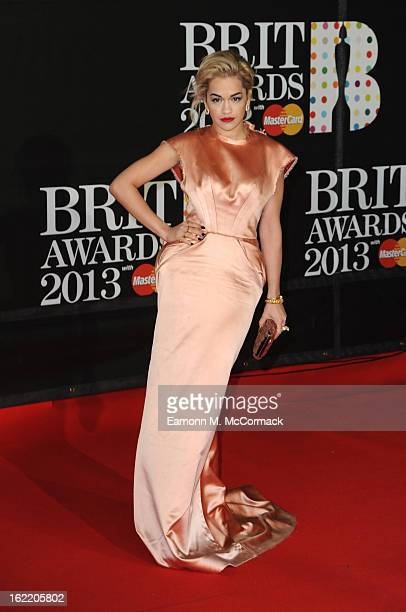 Rita Ora attends the Brit Awards 2013 at the 02 Arena on February 20 2013 in London England