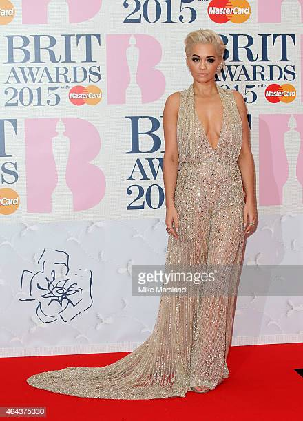 Rita Ora attends the BRIT Awards 2015 at The O2 Arena on February 25 2015 in London England