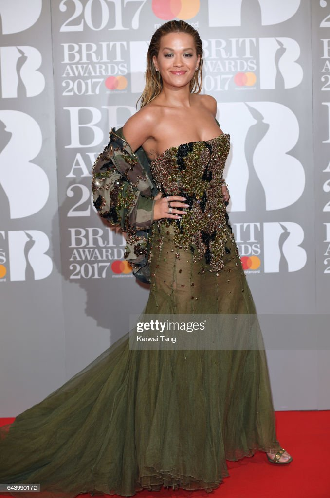 ONLY. Rita Ora attends The BRIT Awards 2017 at The O2 Arena on February 22, 2017 in London, England.
