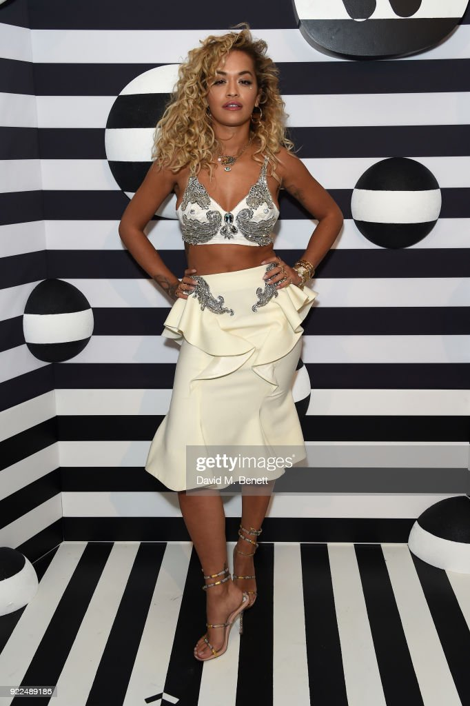 Rita Ora attends the Brits Awards 2018 After Party hosted by Warner Music Group, Ciroc and British GQ at Freemasons Hall on February 21, 2018 in London, England.