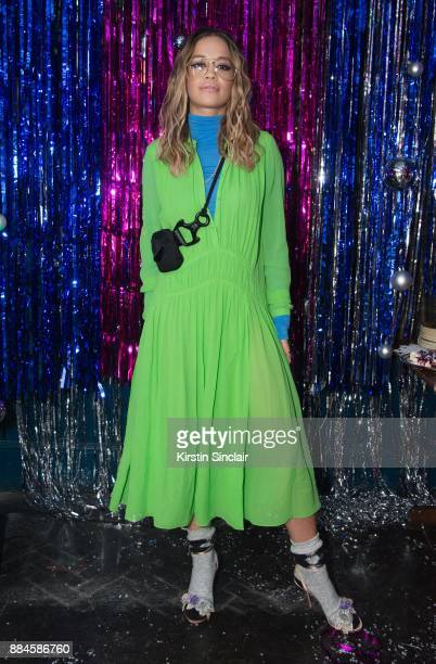 Rita Ora attends the Burberry x Cara Delevingne Christmas Party on December 2 2017 in London England