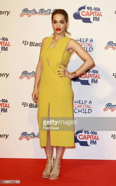 Rita Ora attends the Capital FM Jingle Bell Ball at 02 Arena on December 9 2012 in London England