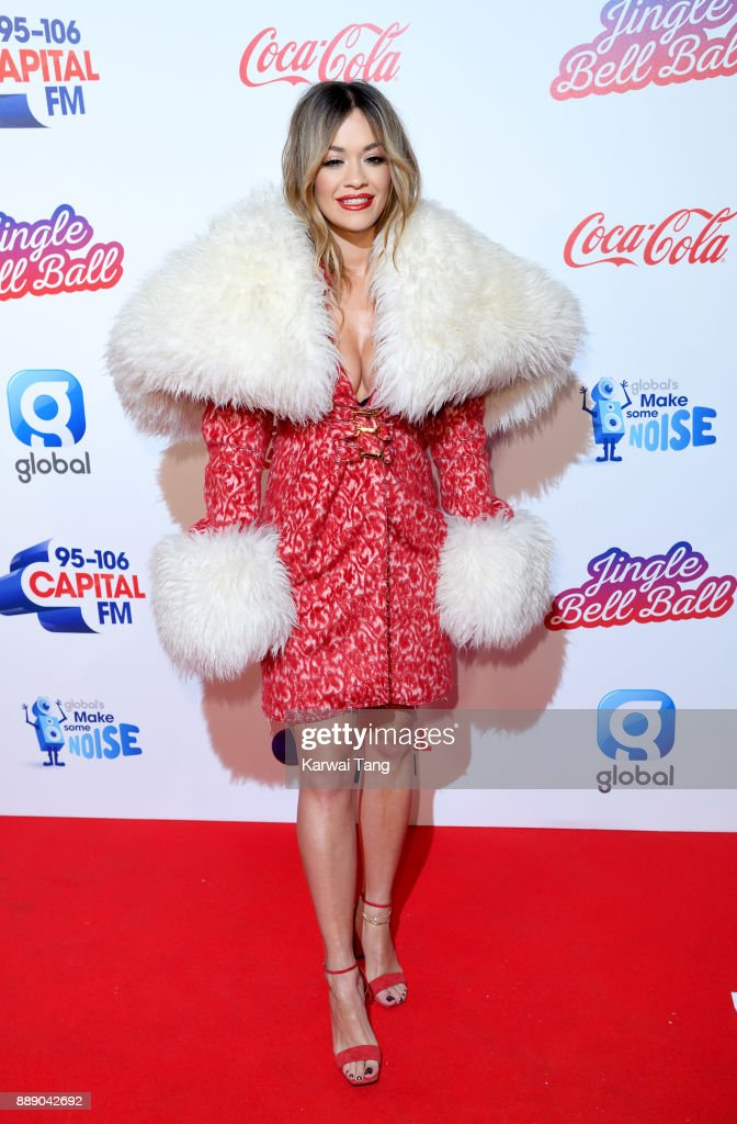 Rita Ora attends the Capital FM Jingle Bell Ball with Coca-Cola at The O2 Arena on December 9, 2017 in London, England.