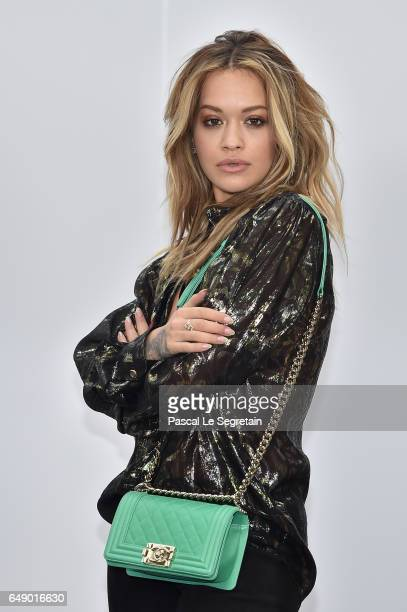 Rita Ora attends the Chanel show as part of the Paris Fashion Week Womenswear Fall/Winter 2017/2018 on March 7 2017 in Paris France