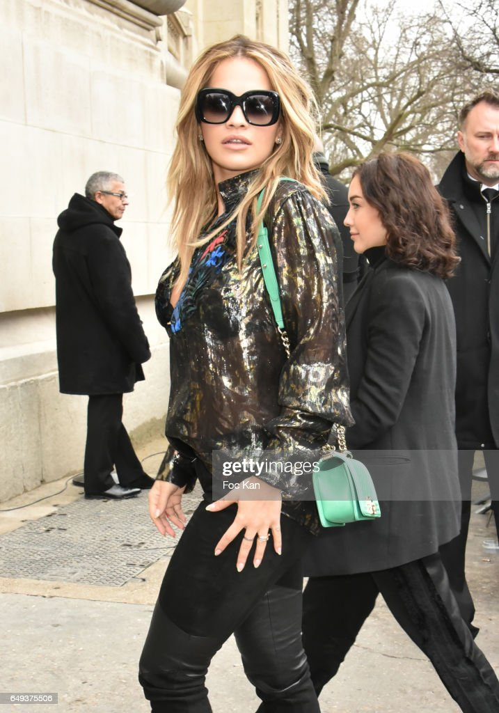 Rita Ora attends the Chanel show as part of the Paris Fashion Week Womenswear Fall/Winter 2017/2018 on March 7, 2017 in Paris, France.