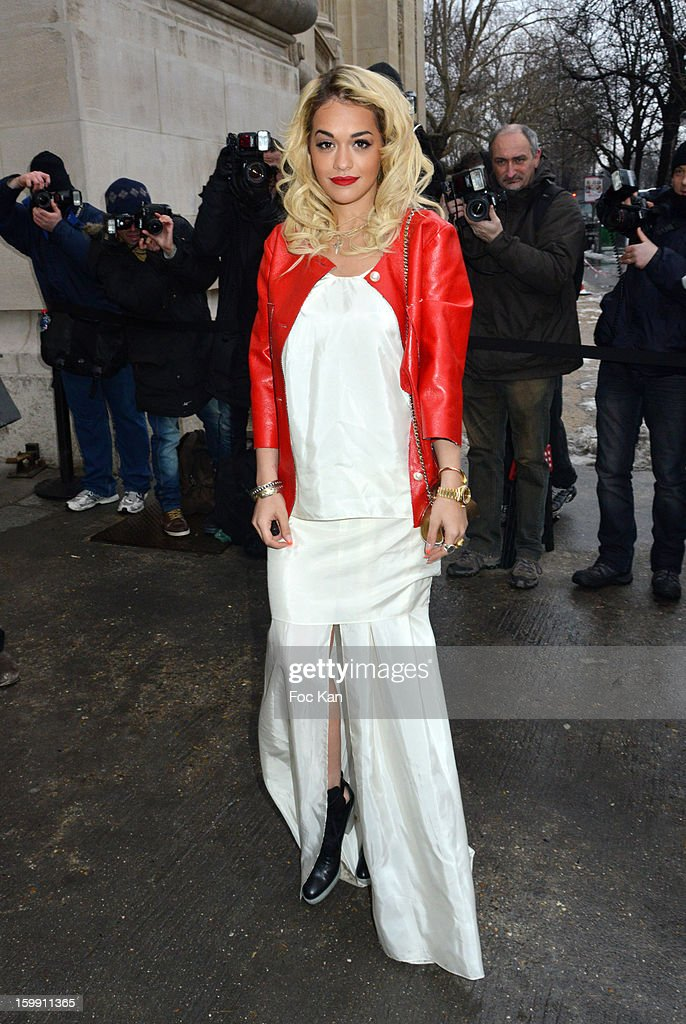 Rita Ora attends the Chanel Spring/Summer 2013 Haute-Couture show as part of Paris Fashion Week at Grand Palais on January 22, 2013 in Paris, France.
