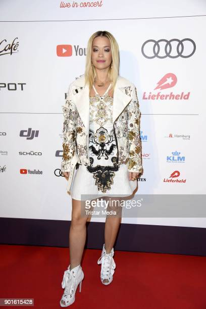 Rita Ora attends the Channel Aid Concert at Elbphilharmonie on January 5 2018 in Hamburg Germany