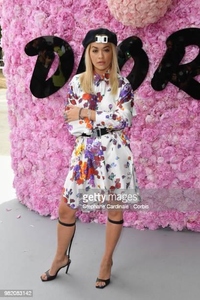 Rita Ora attends the Dior Homme Menswear Spring/Summer 2019 show as part of Paris Fashion Week Week on June 23 2018 in Paris France