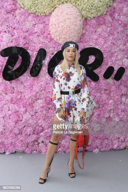 Rita Ora attends the Dior Homme Menswear Spring/Summer 2019 show as part of Paris Fashion Week on June 23 2018 in Paris France