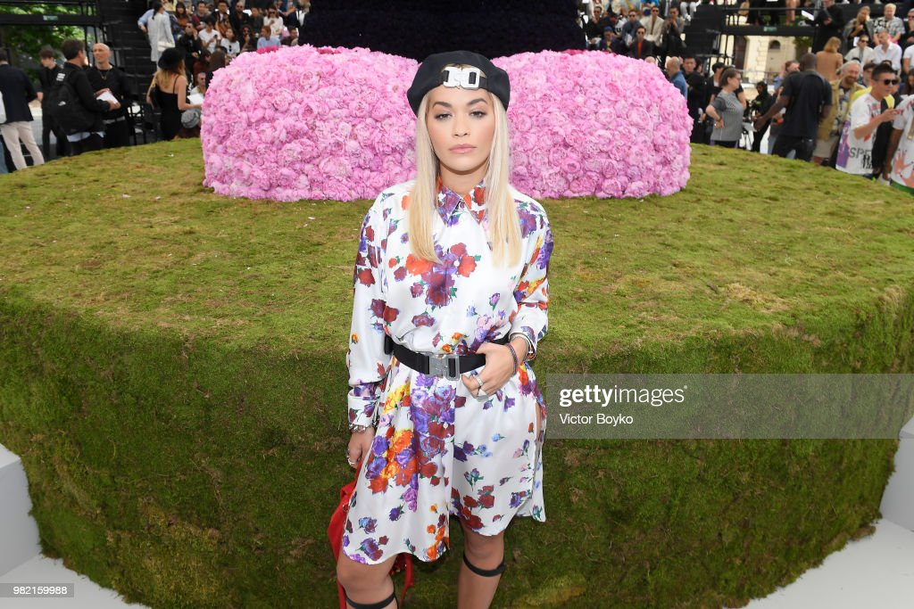 Rita Ora attends the Dior Homme Menswear Spring/Summer 2019 show as part of Paris Fashion Week on June 23, 2018 in Paris, France.