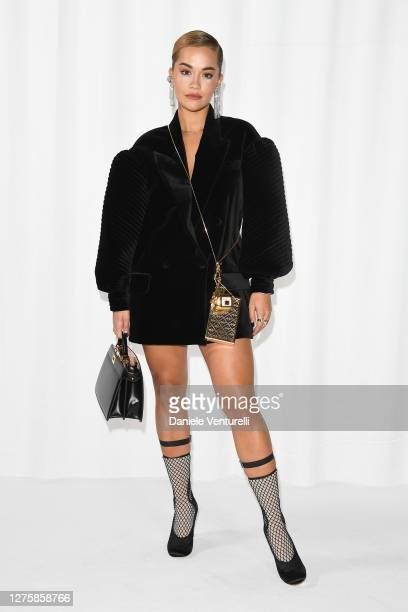Rita Ora attends the Fendi Spring Summer 2021 Show during Milan Fashion Week on September 23 2020 in Milan Italy