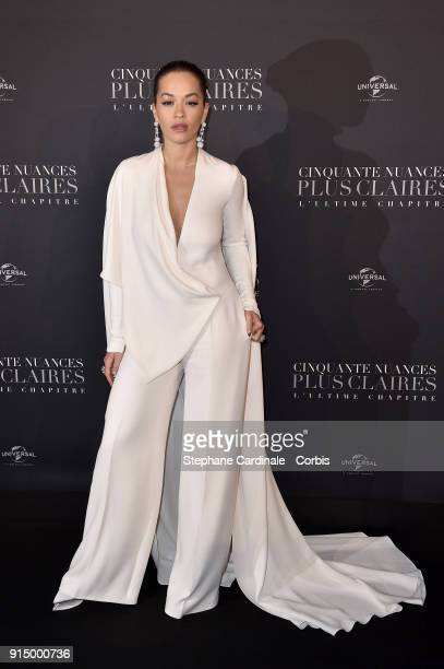 Rita Ora attends the 'Fifty Shades Freed 50 Nuances Plus Clair' Paris Premiere at Salle Pleyel on February 6 2018 in Paris France