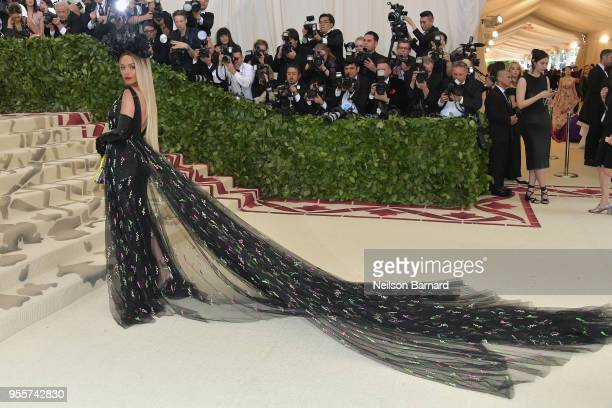 Rita Ora attends the Heavenly Bodies Fashion The Catholic Imagination Costume Institute Gala at The Metropolitan Museum of Art on May 7 2018 in New...
