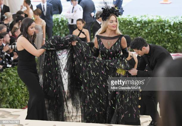 Rita Ora attends the Heavenly Bodies: Fashion & The Catholic Imagination Costume Institute Gala at The Metropolitan Museum of Art on May 7, 2018 in...
