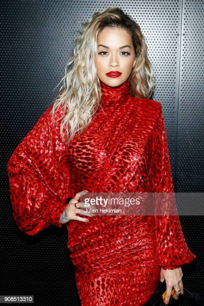 Rita Ora attends the Kilian Party as part of Paris Fashion Week on January 21 2018 in Paris France