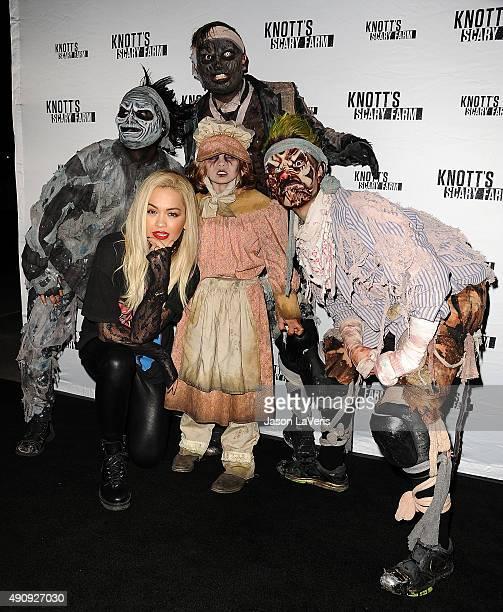 Rita Ora attends the Knott's Scary Farm black carpet at Knott's Berry Farm on October 1 2015 in Buena Park California