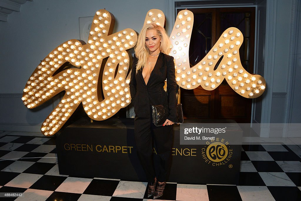 Rita Ora attends The London 2014 Stella McCartney Green Carpet Collection during London Fashion Week at The Royal British Institute on September 14, 2014 in London, England.
