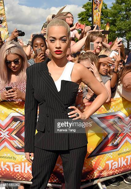 Rita Ora attends the London auditions of The X Factor at SSE Arena on July 21 2015 in London England