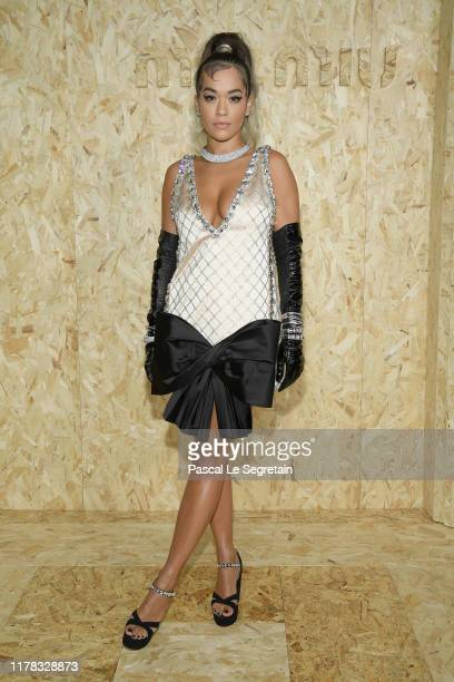 Rita Ora attends the Miu Miu Womenswear Spring/Summer 2020 show as part of Paris Fashion Week on October 01 2019 in Paris France