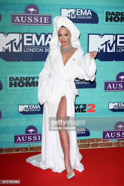 Rita Ora attends the MTV EMAs 2017 at The SSE Arena Wembley on November 12 2017 in London England