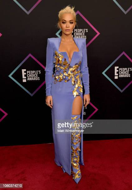 Rita Ora attends the People's Choice Awards 2018 at Barker Hangar on November 11 2018 in Santa Monica California