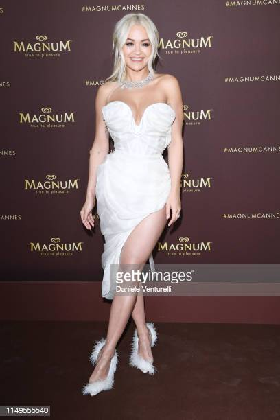 Rita Ora attends the photocall for MAGNUM x Rita Ora during the 72nd annual Cannes Film Festival on May 16 2019 in Cannes France