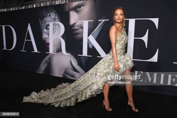 Rita Ora attends the premiere of Universal Pictures' Fifty Shades Darker at The Theatre at Ace Hotel on February 2 2017 in Los Angeles California