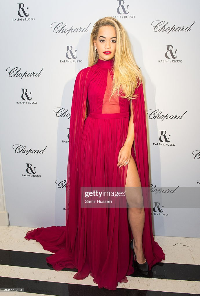 Rita Ora attends the Ralph & Russo and Chopard dinner during part of Paris Fashion Week on January 25, 2016 in Paris, France.