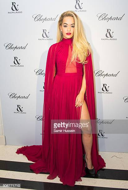 Rita Ora attends the Ralph Russo and Chopard dinner during part of Paris Fashion Week on January 25 2016 in Paris France