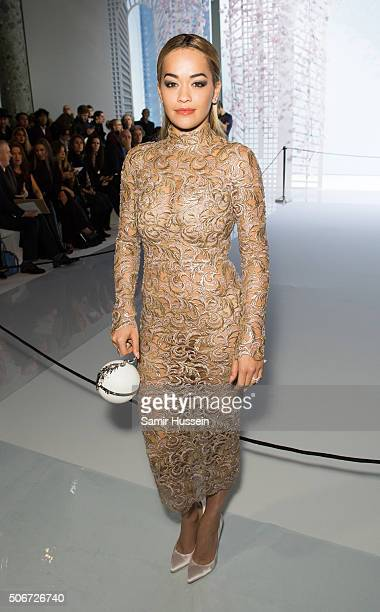 Rita Ora attends the Ralph Russo Haute Couture Spring Summer 2016 show as part of Paris Fashion Week on January 25 2016 in Paris France