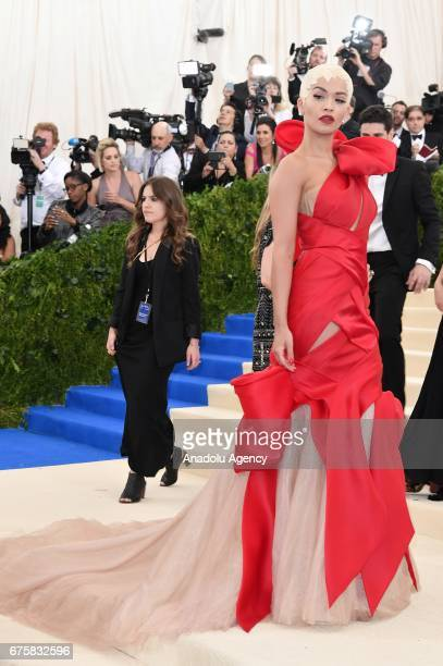 Rita Ora attends the 'Rei Kawakubo / Comme des Garcons Art Of The InBetween' Costume Institute Gala 2017 at Metropolitan Museum of Art in New York...