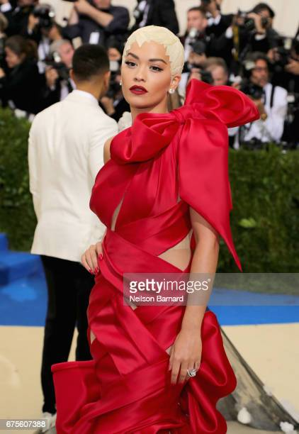 Rita Ora attends the 'Rei Kawakubo/Comme des Garcons Art Of The InBetween' Costume Institute Gala at Metropolitan Museum of Art on May 1 2017 in New...